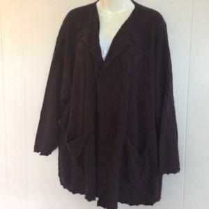 Eskandar Women's Sweater Coat Sz O/S